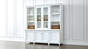 wall hutches image of glass door hutch white