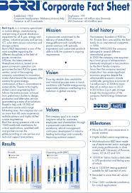 Sample Fact Sheets Sap Corporate Fact Sheet Example Pdf Free ...