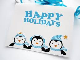 Holiday Card set, set of 6 Penguin Christmas Happy Holidays Cards ...