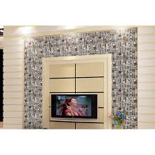 crystal glass mosaic tile silver aluminum tiles metal and glass tiles kitchen wall backsplash bathroom tile