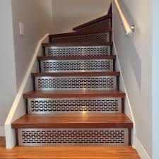 Stair Risers Treads Architectural Grille Guardrail And Stair