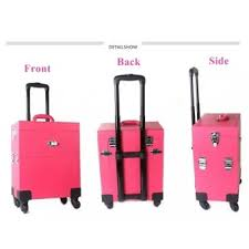 professional trendy trolley makeup case 04 pink color