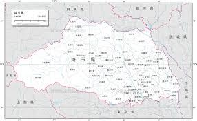 地図素材埼玉県 白地図 82989 ベクトル地図素材 加工編集できるai