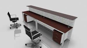 two person office desk. Contemporary Office Desk For Two Persons With Additional Elevated Wood Panel And A Pair Of Under Person