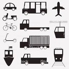シンプルなモノクロの車輸送関連のアイコンを 2015年のベクターアート
