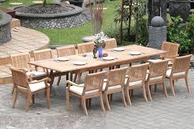 13 piece teak dining set