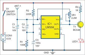 mobile phone detector using lm358 full electronics project circuit diagram of the mobile phone detector