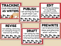 Tracking Chart Ideas Writing Process Clip Chart Tracking Our Writing Progress