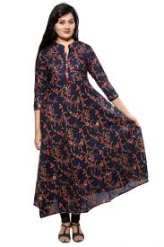 Designer Kurtis Wholesale Online Shopping Anarkali Kurti In Rayon