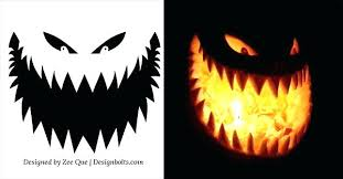 Halloween Carving Patterns Impressive Simple Scary Pumpkin Faces Carving Ideas But Halloween Patterns Evil
