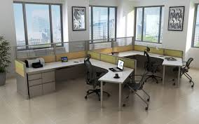 office cubic. #235 6\u0027x9\u2032 120 Degree Open Cubicle Style Workstations 1 Office Cubic