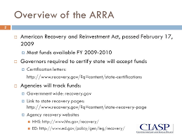 Arra Opportunities For Helping Low Income Children And Families