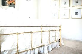 painting a metal bed frame painted metal bed frames gold spray painted home decor ideas for painting a metal bed frame