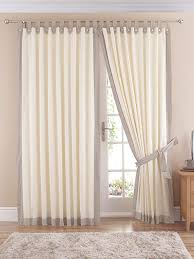 claremont lined tab top curtains pair natural 66 width x 54