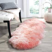 catchy fur runner rug best ideas about pink on girls rugs hot