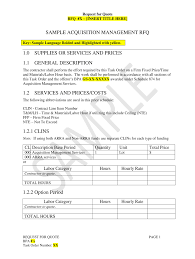 Blank Rfq Template Fill Online Printable Fillable Blank