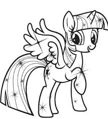 My Little Pony Coloring Pages Princess Twilight Sparkle Coloring