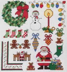 Mini Christmas Cross Stitch Chart P17079 Purple Kitty