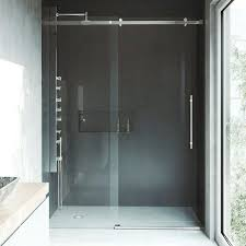 shower door with stainless steel hardware 60 frameless inch glass doors contemporary