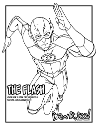 The Flash Coloring Pages Justice League Fun Sailany With