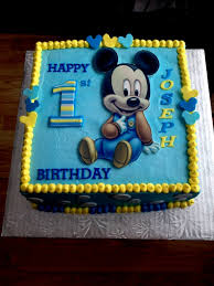 4pcs Set Baby Boy Girl Mickey Mouse Clothing 1st Birthday Party Cake