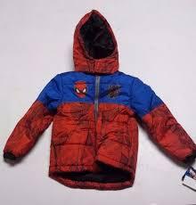 toddler boys marvel spider man puffer jacket winter coat variation size