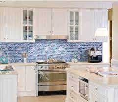 kitchen backsplash glass tile blue. Glass Marble Sea Blue Tile Backsplash MGT002 Backsplash, Stone Tiles, Kitchen E