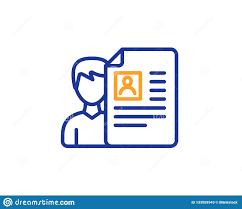 Recruitment Cv Business Recruitment Line Icon Cv Documents Vector Stock