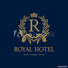 Crown Template Impressive R Company Logo Luxurious Hotel Coat Of Arms Gold Colored Round