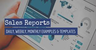 Salesman Tracking Forms Sales Report Examples Templates For Daily Weekly Monthly