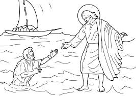 Peter Walks On Water Coloring Page Peter Walked On Water