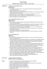Construction Loan Administrator Sample Resume Loan Administrator Resume Samples Velvet Jobs 9