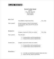 Free Resume Template Pdf 40 Blank Resume Templates Free Samples In