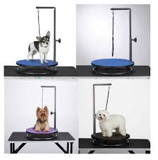 small pet round rotating grooming tables dog groomer table for smaller pets