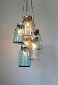 ... Latest Mason Jar Pendant Light Ocean Sapphire Mason Jar Chandelier  Mason Jar Light Modern ...