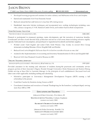 project scheduler resumes resume resume sample for cook