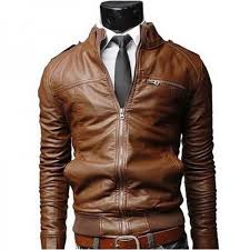 new arrival pu leather jacket men long stand collar solid color jackets coats mens leather jackets