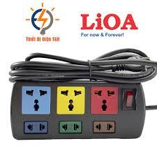 Ổ cắm điện LIOA đa năng, cao cấp, chịu tải, 4 lỗ, 6 lỗ, 8 lỗ, 10 lỗ, dây  dài 3M, 5M, chính hãng - Thiết Bị Điện T&H - Ổ cắm