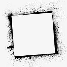 ink splashes border black frame sputtering png image and clipart