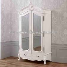 armoire furniture antique. French White Provincial Furniture Antique Style Armoire With Two Mirrors Wardrobe Indonesia Mahogany