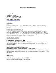 Description Data Entry Clerk Resume Sample Of It Cover Letter