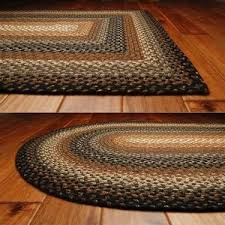8x10 braided rug beautiful cocoa bean rectangle cotton primitive star quilt regarding 7
