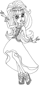 Draculaura Performing At The Dance Scene Coloring Pages - Monster ...