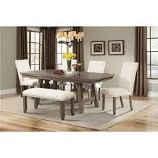elements international jax dining set with bench furniture chair set48 furniture
