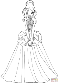 Small Picture Daphne in a Dress coloring page Free Printable Coloring Pages