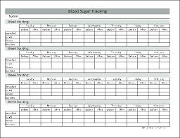 Blood Sugar Log Sheet Excel Fresh New Diabetes Tracker
