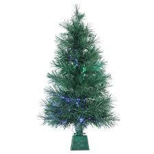 Northlight 4u0027 Color Changing Fiber Optic Tree U0026 Reviews  WayfairBlack Fiber Optic Christmas Tree