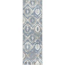 blue ikat stripe rug
