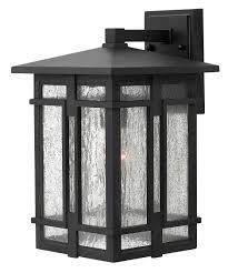 Hinkley Lighting  Tucker  Inch Wide  Light Outdoor Wall - Black exterior light fixtures