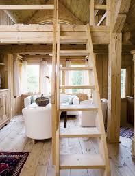small cabin furniture. this tiny house with loft unfinished light wood everywhere and airy the small cabin furniture